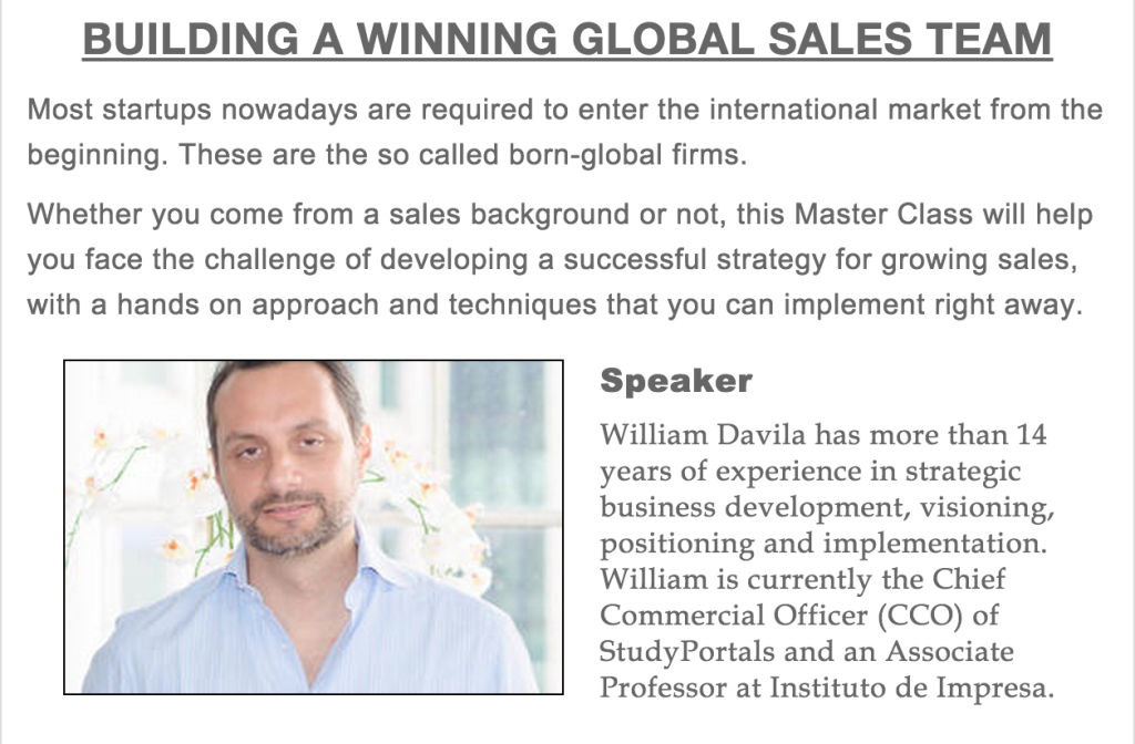 Building A Winning Global Sales Team
