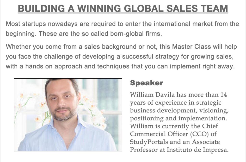 Building A Winning Global Sales Team